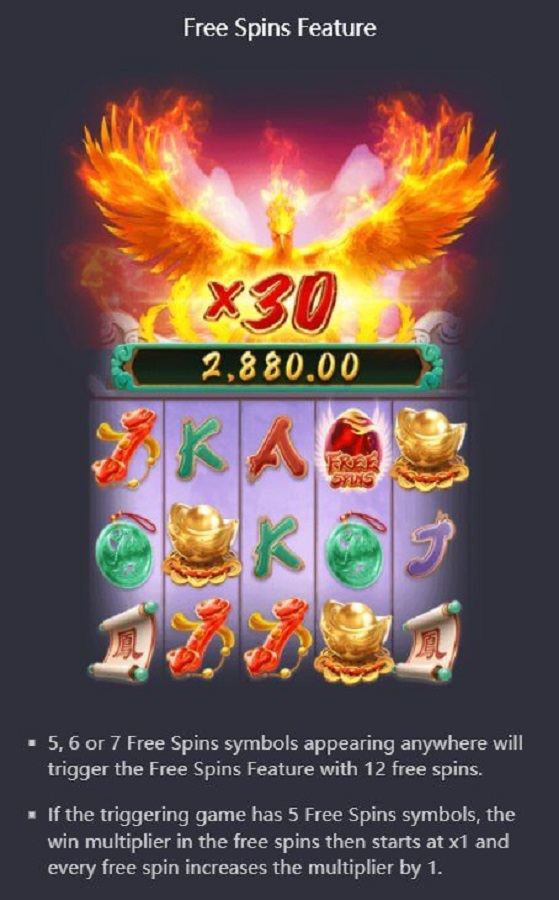 Phoenix Rises Free Spins Feature