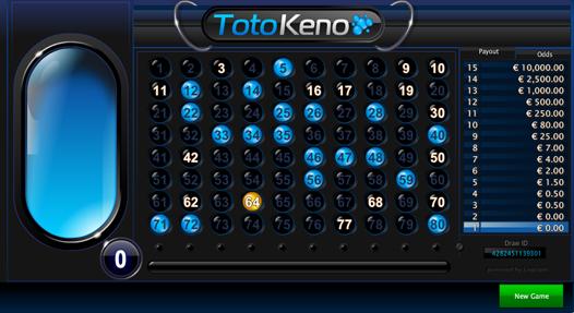 Toto Keno Losing Bet 1
