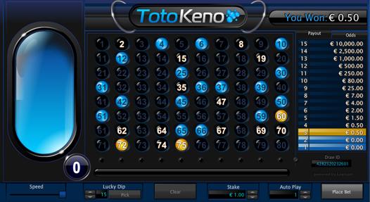 Toto Keno Win Message