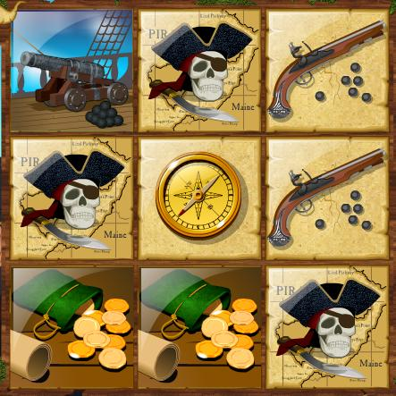 Pirate Instant Losing Scratchcard