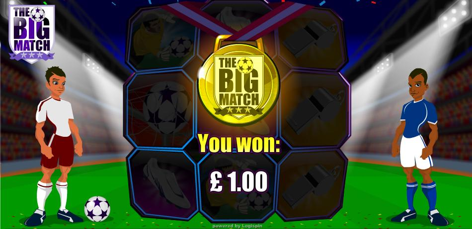 The Big Match Win Message