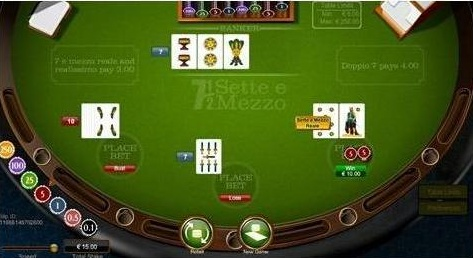 Sette e Mezzo Game Screen