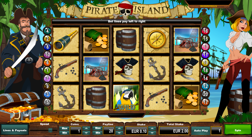 Pirate Island Entry Screen