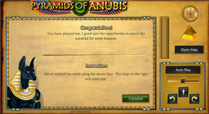 Pyramid of Aubis Bonus Round Screen