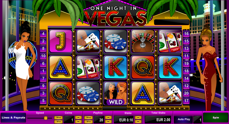 One Night In Vegas Entry Screen