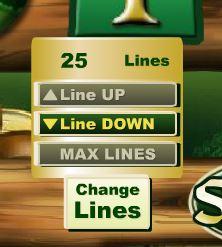 Irish Luck Change Lines Button