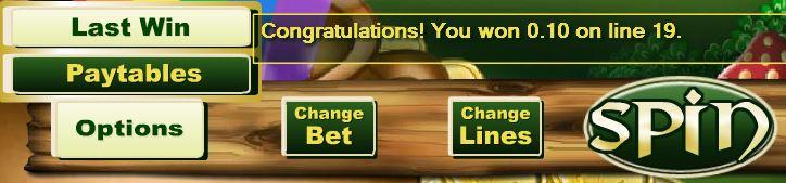 Irish Luck Last Win Button