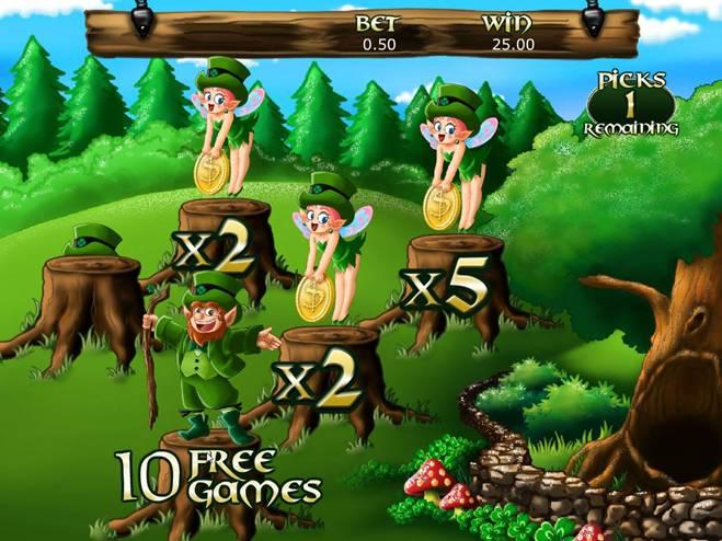 Irish Luck Triggering Free Games During Prize Pick