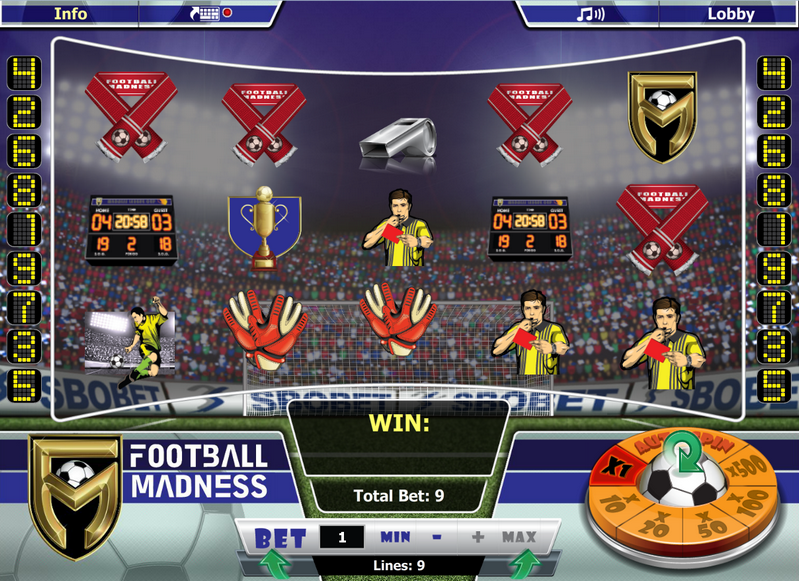 Footabll Madness Entry Screen