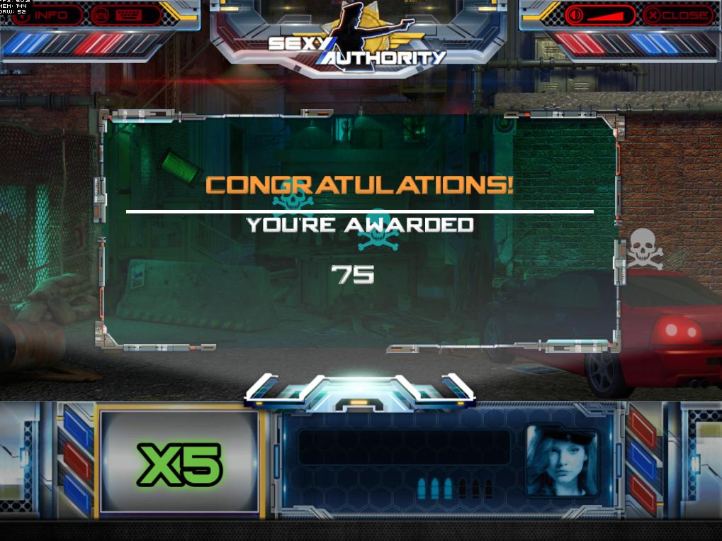 Sexy Authority Bonus Game Result