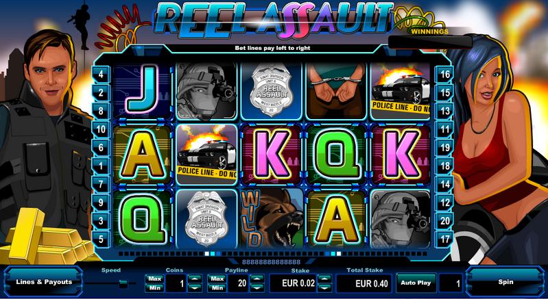 Reel Assault Entry Screen