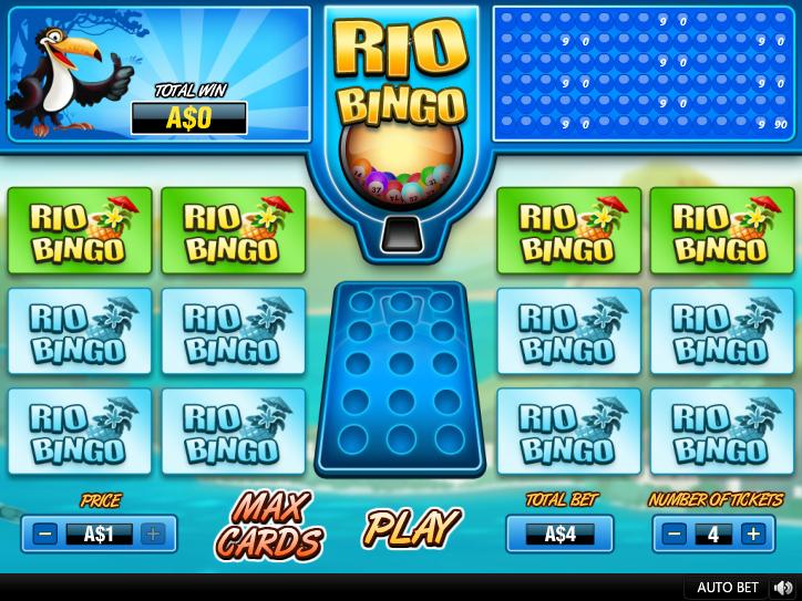 Rio Bingo placing bets