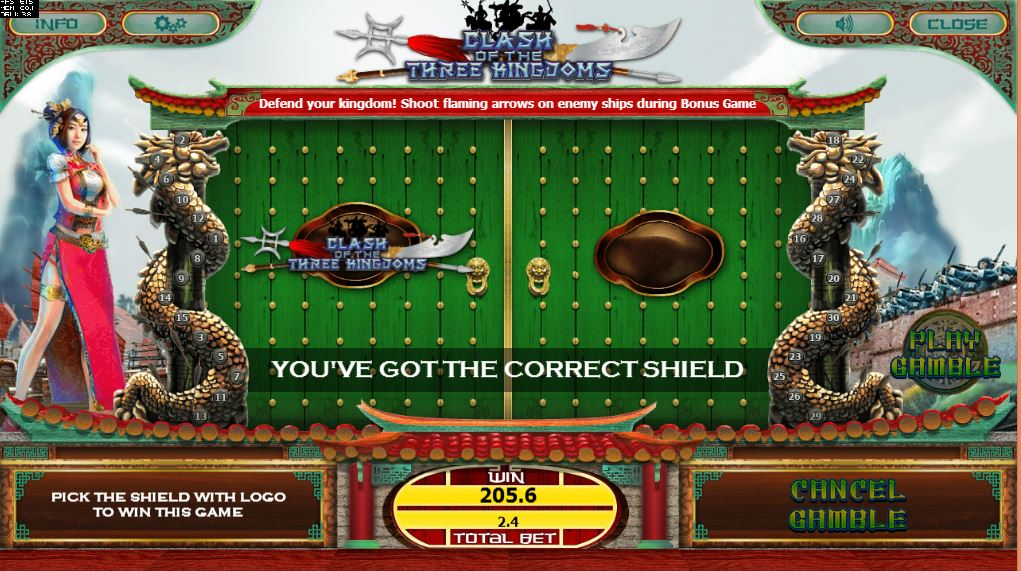 Clash of the Three Kindgoms Gamble Game