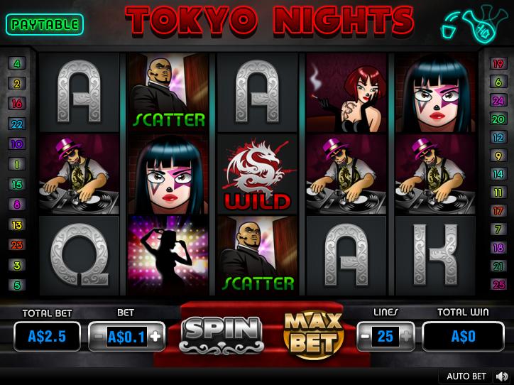 Tokyo Nights Entry Screen