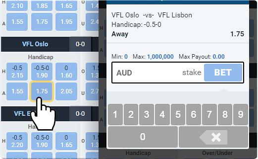 Virtual Football League bet slip window.jpg