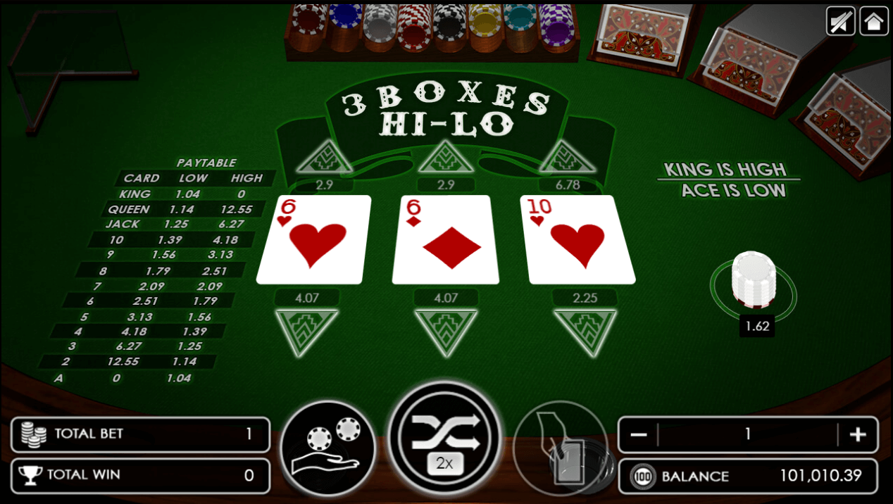 Three Boxes Hi-Lo new card dealt on the right side.png