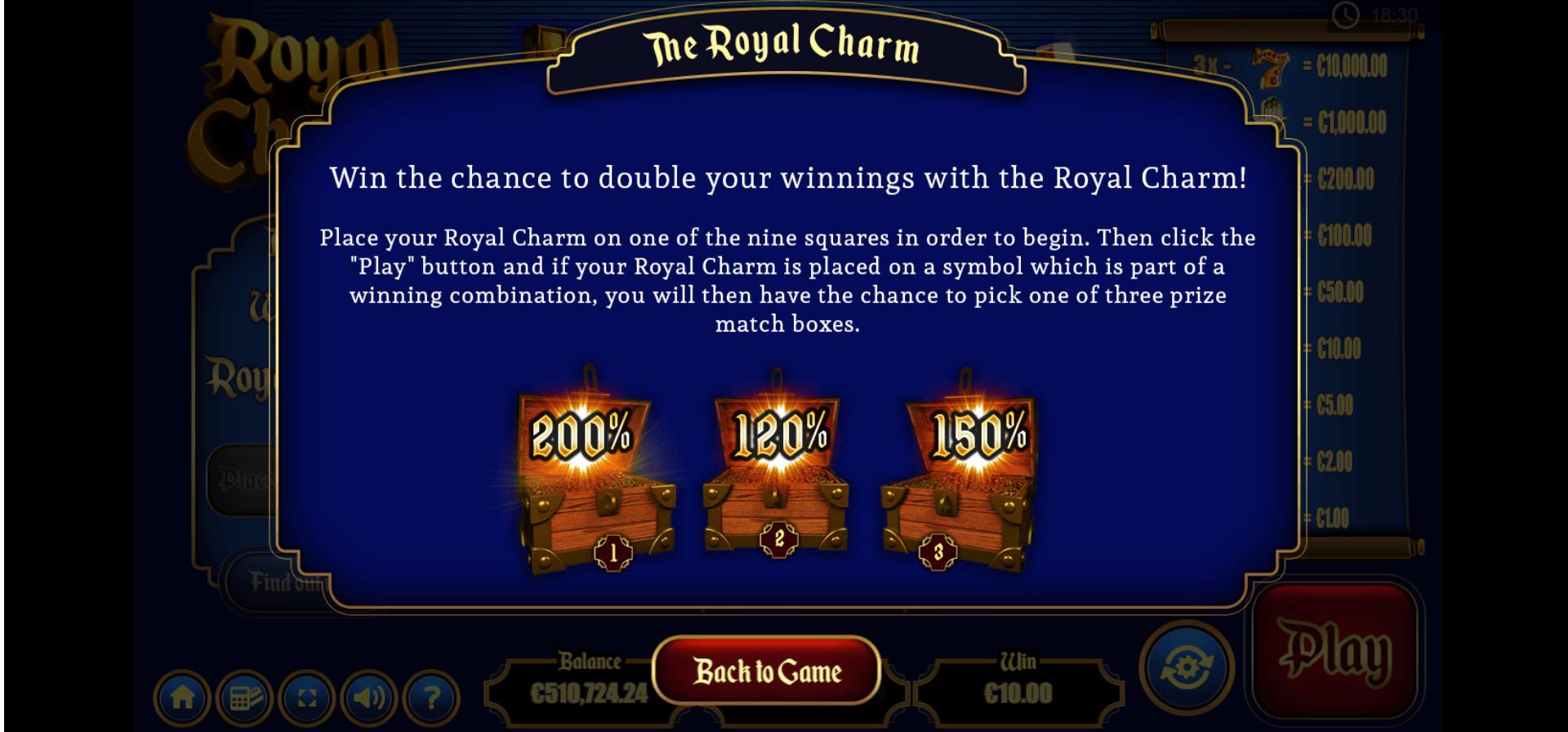 Royal Charm help screen.png