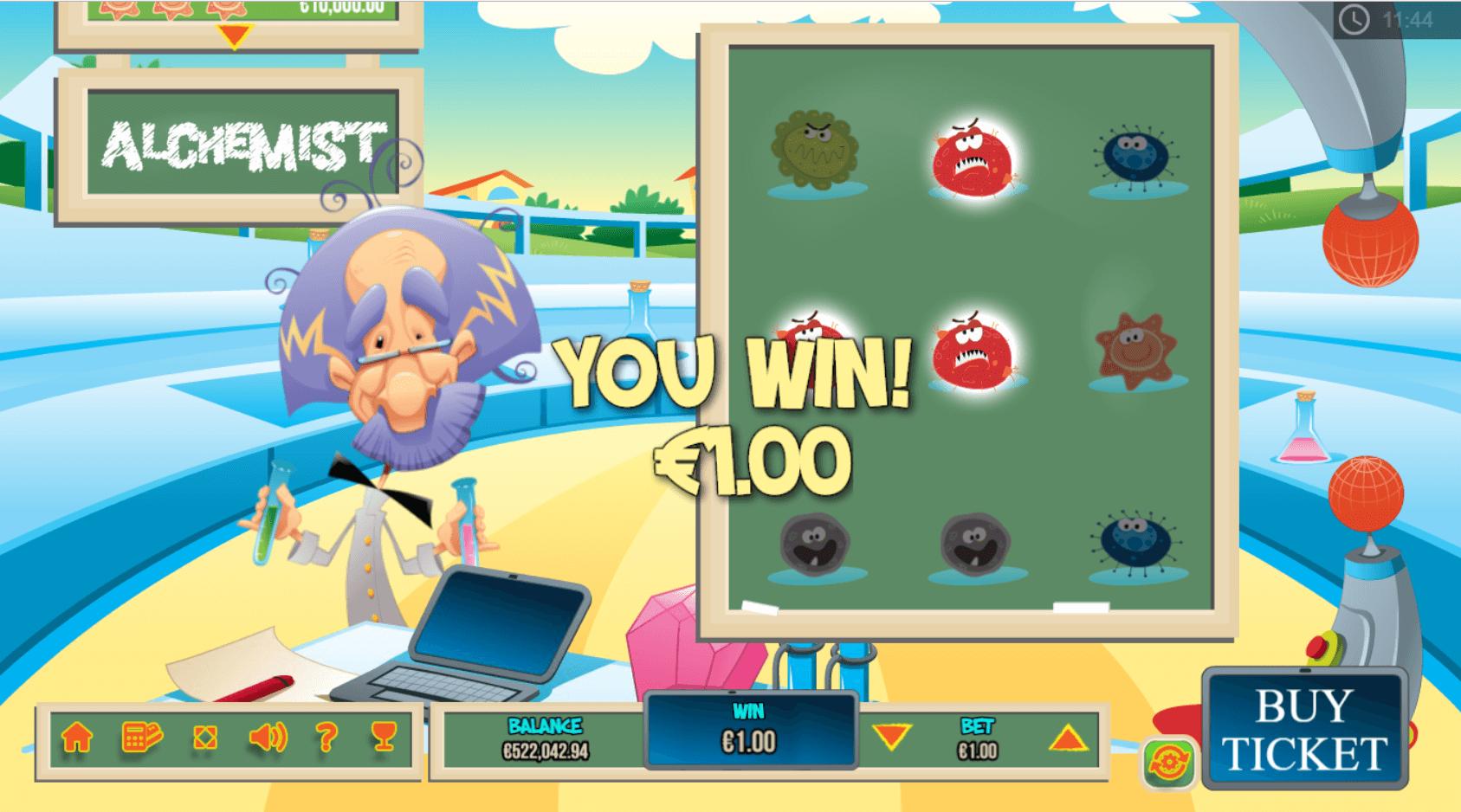 The Alchemist winning screen.png