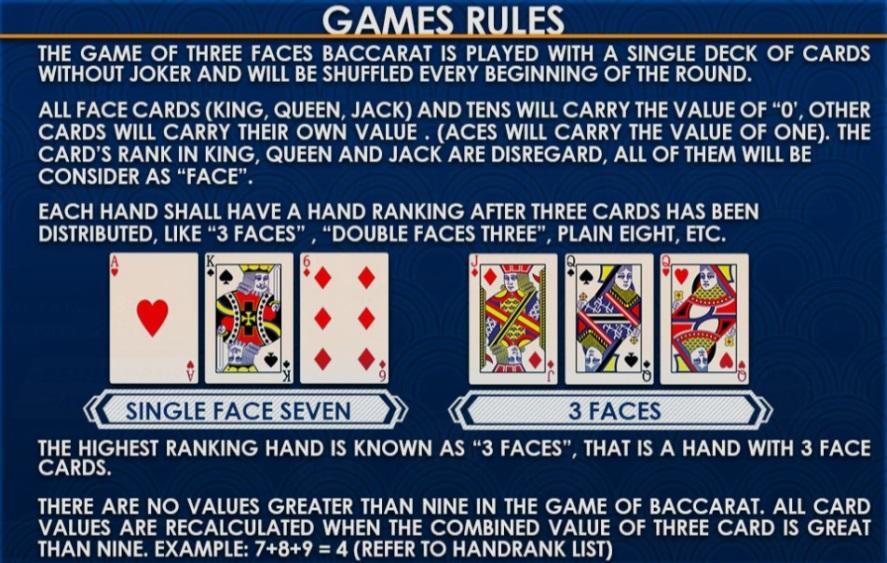 3 CARD BACCARAT