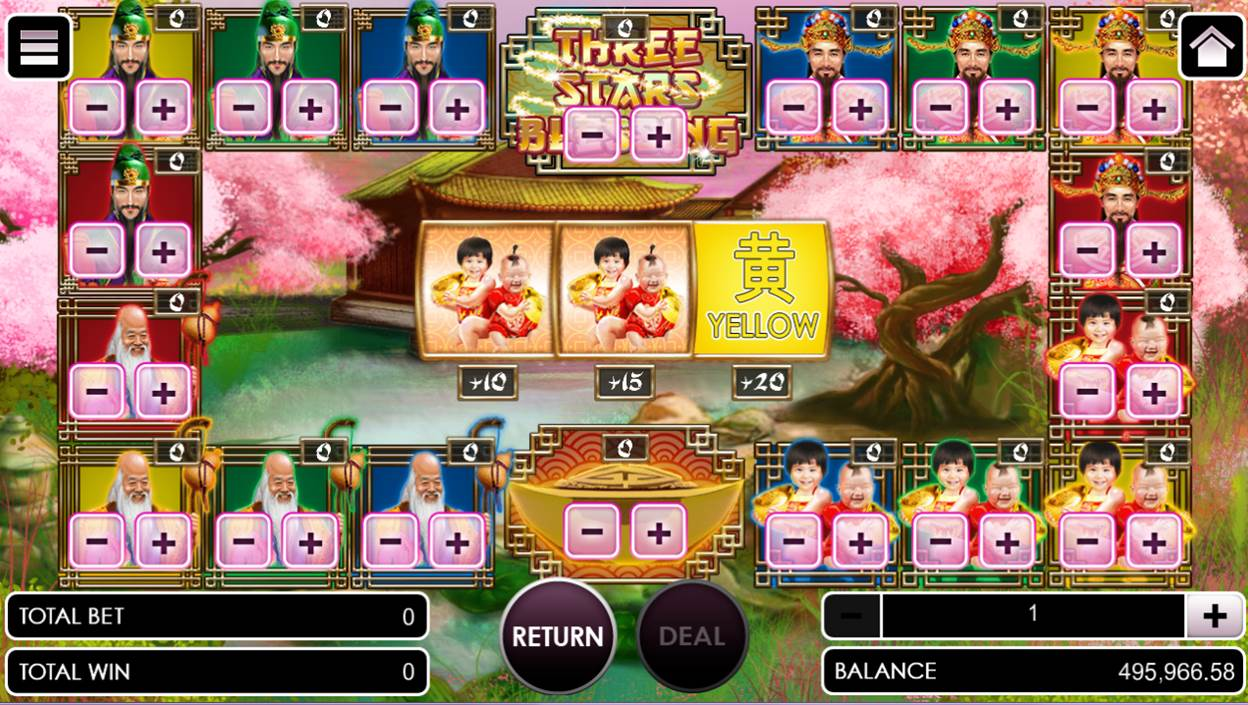 Three stars blessing game without betting options selected