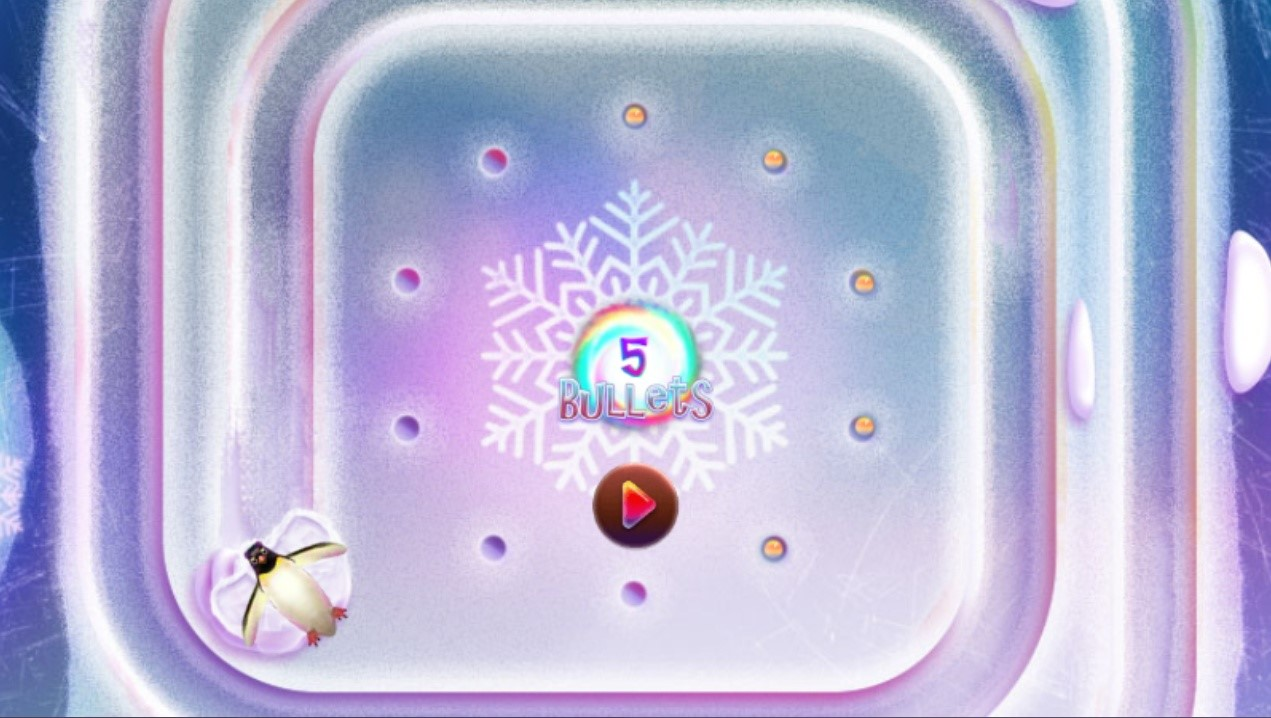 Frozty candy game in candy bullets stage