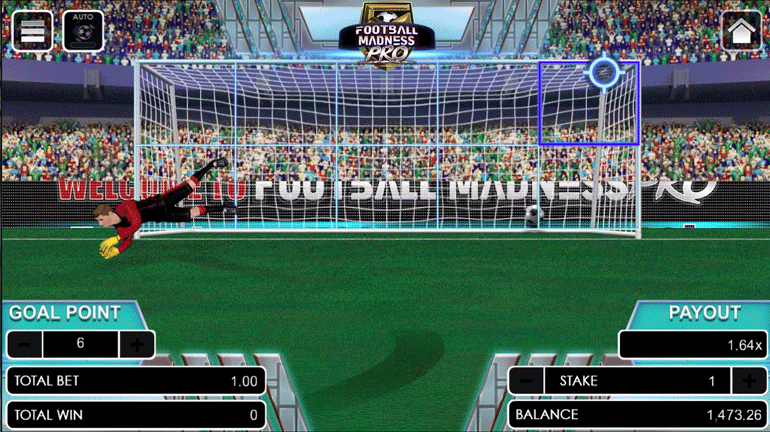 Football Madness Pro Penalty Kick game area chose