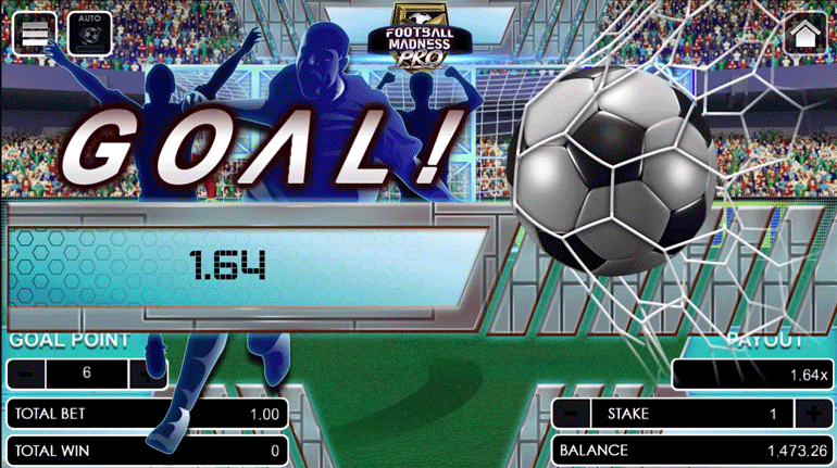 Football Madness Pro Penalty Kick winning flier