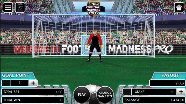 Football Madness Pro Penalty Kick main game