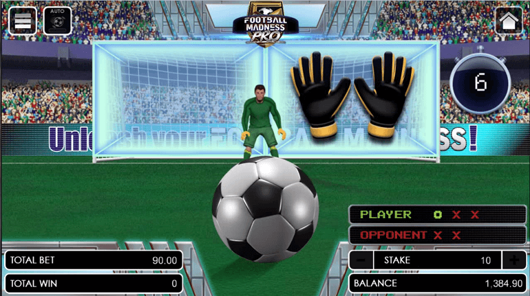 Football Madness Pro Shootout defending phase scoreboard