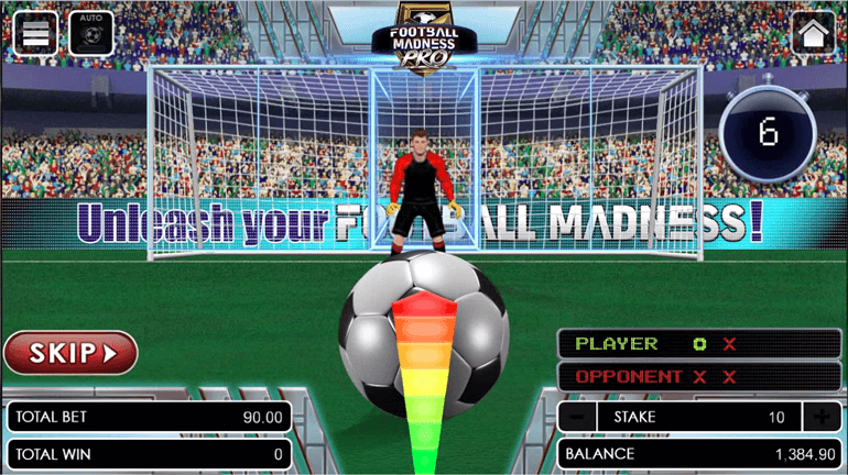 Football Madness Pro Shootout shooting phase round 3
