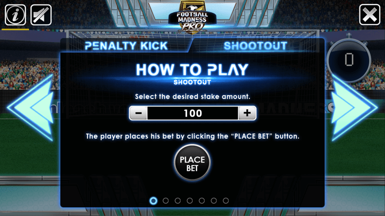 Football Madness Pro game menu button