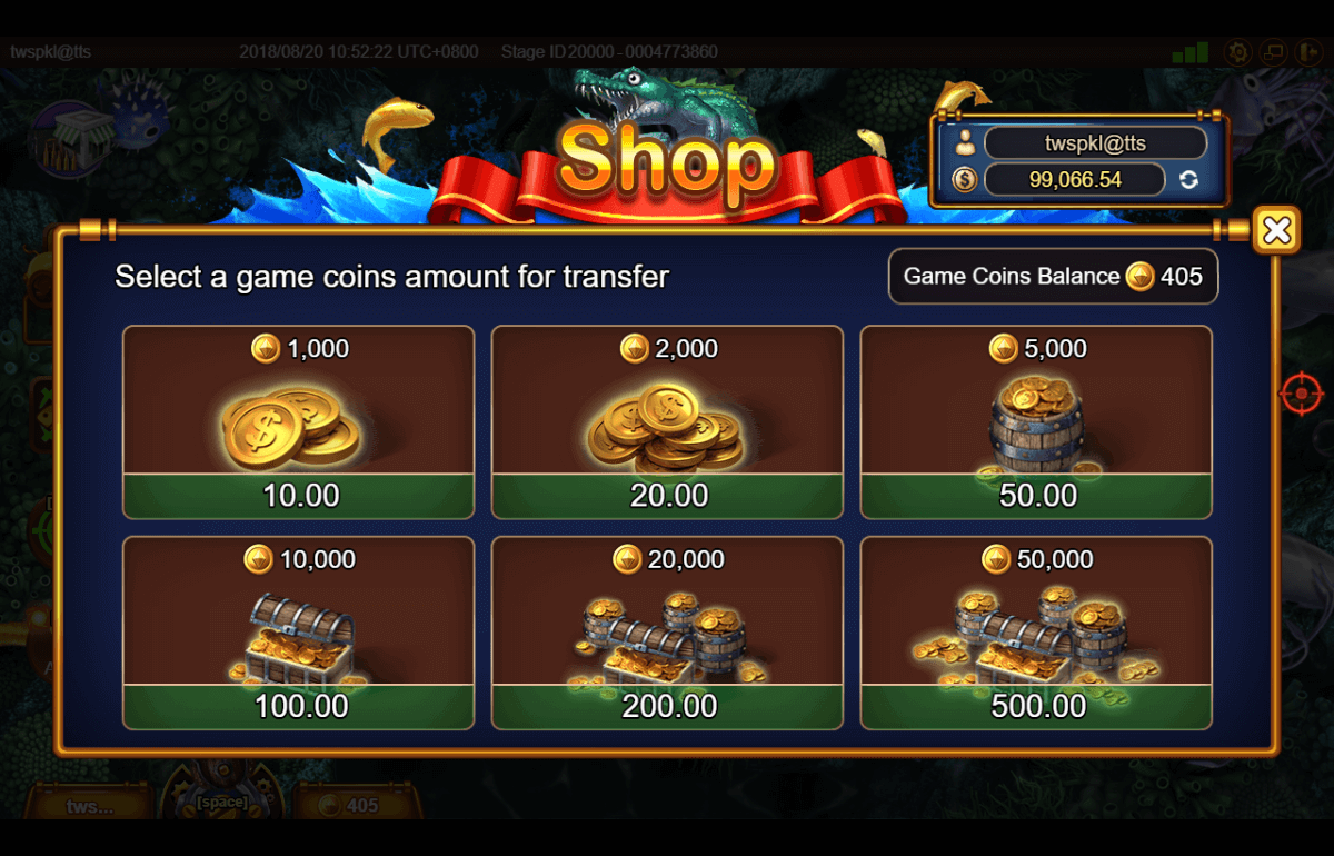 Fishermen Gold buy game coin