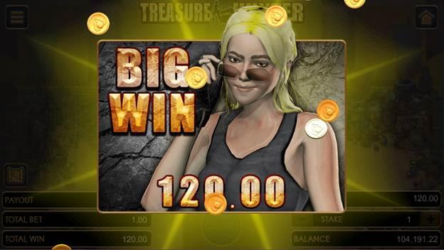 Treasure Hunter game Big Win flier