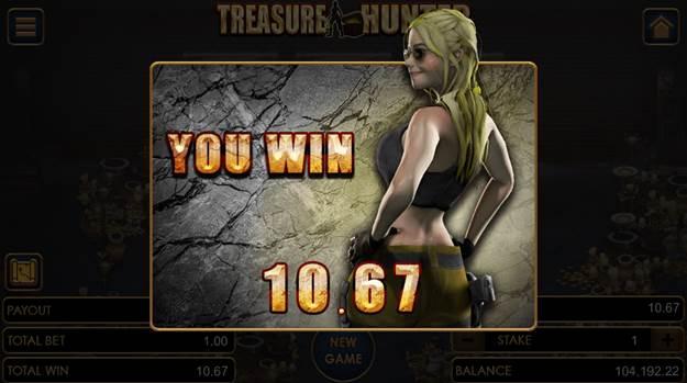Treasure Hunter game winning flier