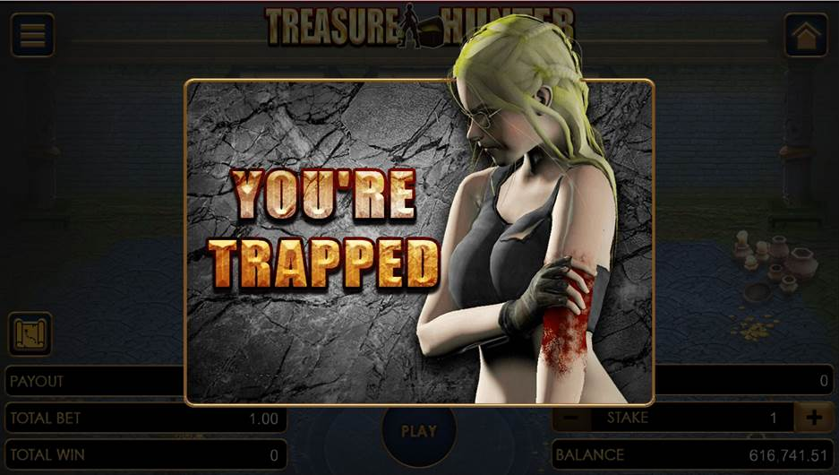 Treasure Hunter game with the you are trapped flier