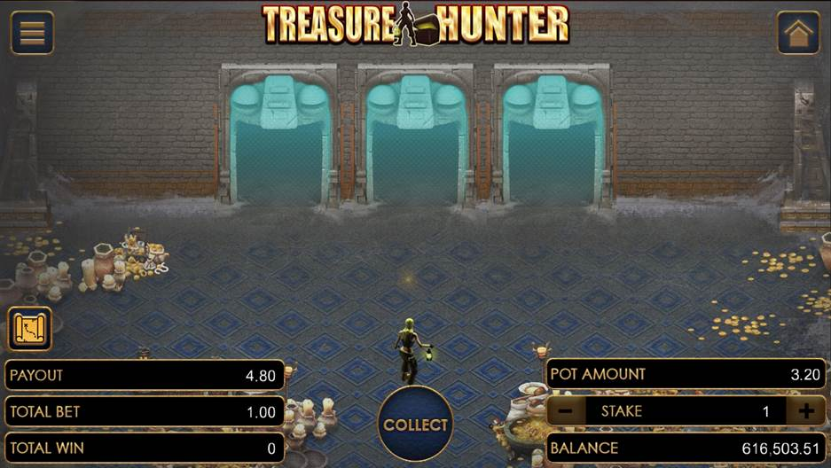 Treasure Hunter on the first 3 doors of Level 2