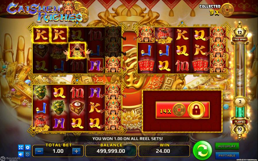 Caishen Riches bonus feature