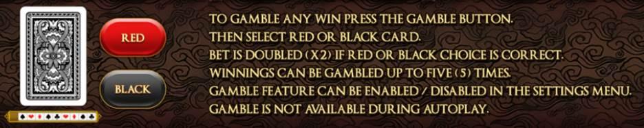 Bushido Blade gamble feature