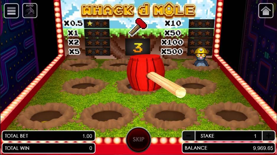 Whack d Mole game scene