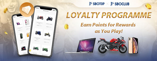 Want to get rewarded from SBOTOP? SBOClub Loyalty Programme allows you to seamlessly earn points and redeem for great rewards.