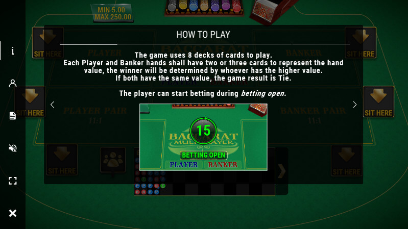 SBOBET Casino Games - Baccarat Multiplayer How to Play