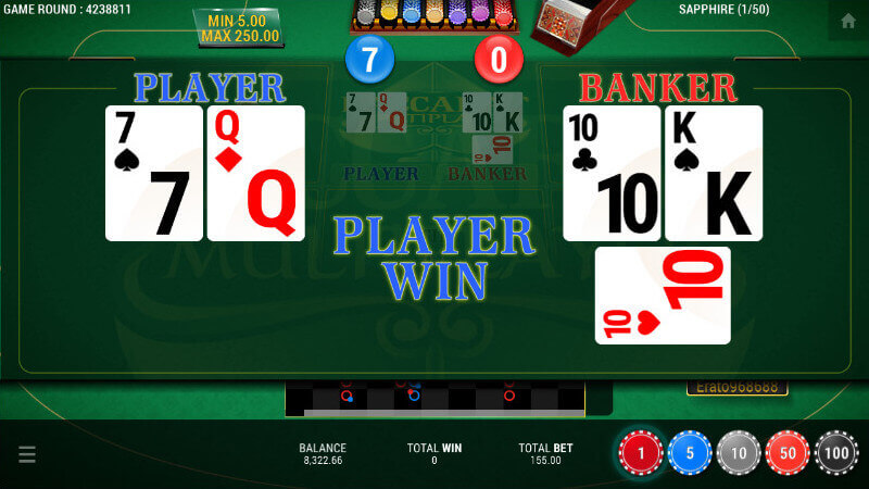 SBOBET Casino Games - Baccarat Multiplayer Winning Screen